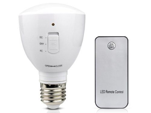 TaoTronics TT-FL07 2-in-1 Remote-Controlled LED Bulb/ LED Flashlight/ LED Emergency Bulb, 85-265V 5 Watt 40-LED, E26/E27 Standard Lamp Base, 5500-6000K, Milky White, Auto light up in blackout by TaoTronics. $34.99. TaoTronics- Technology Enhances Life Overview: This 2 in 1 multi-function LED bulb/flashlight can be used as an ordinary light bulb at home, office or garage. It also doubles as an emergency LED flashlight, or camping/outdoor flashlight. When put on the E26/E27 lamp...