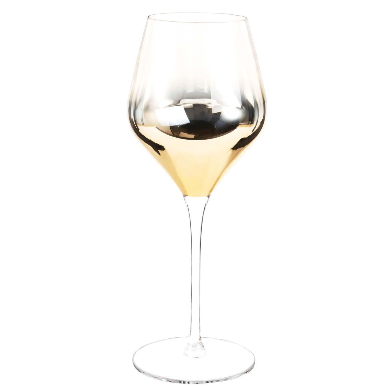 Verre à vin en verre dégradé doré | Maisons du Monde | Verre