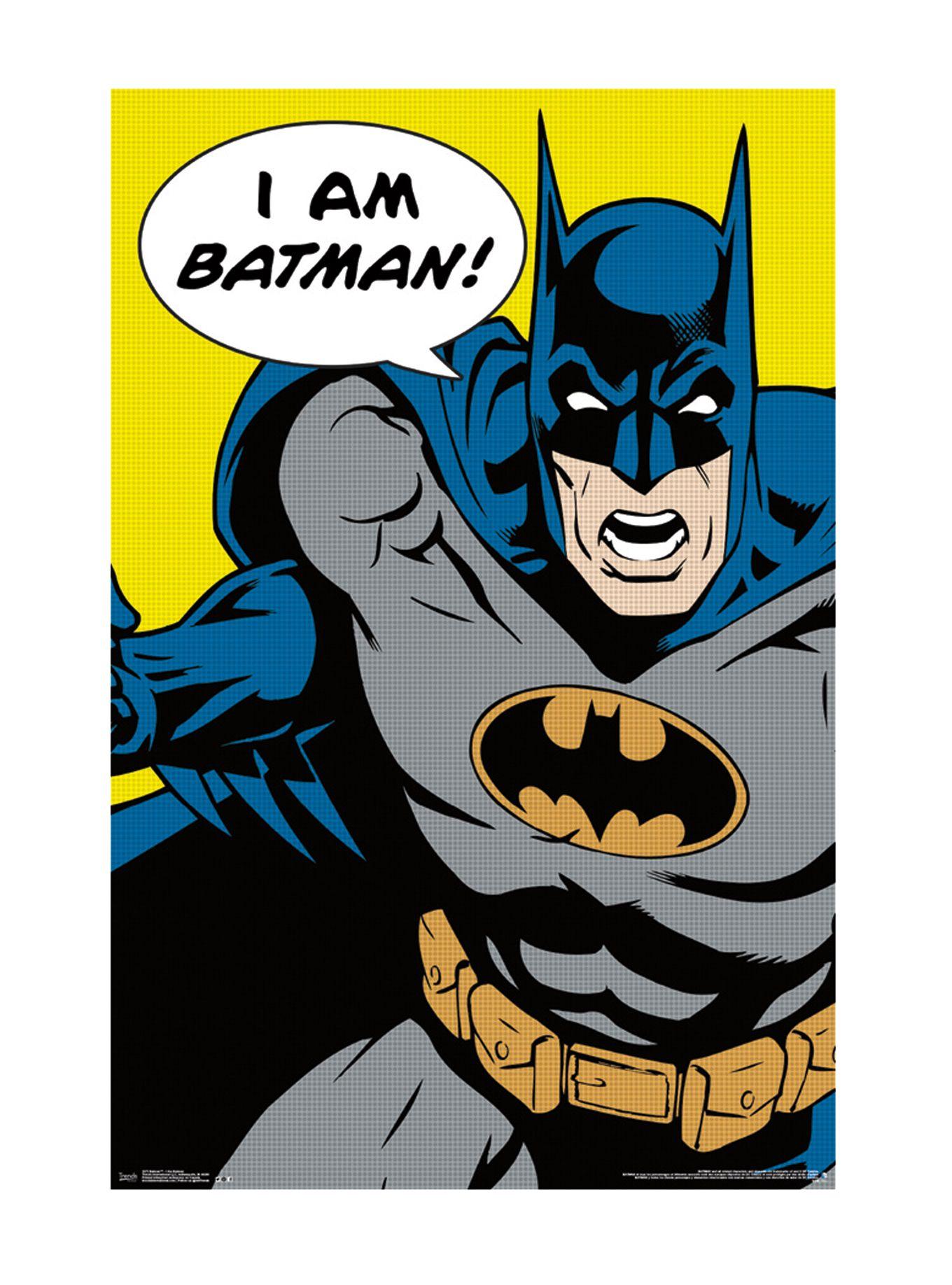 Dc comics i am batman poster hot topic dc comics