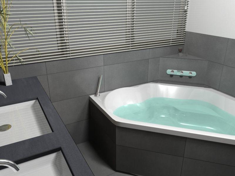 hoekbad badkamer - Google zoeken | Badkamer | Pinterest | Interiors