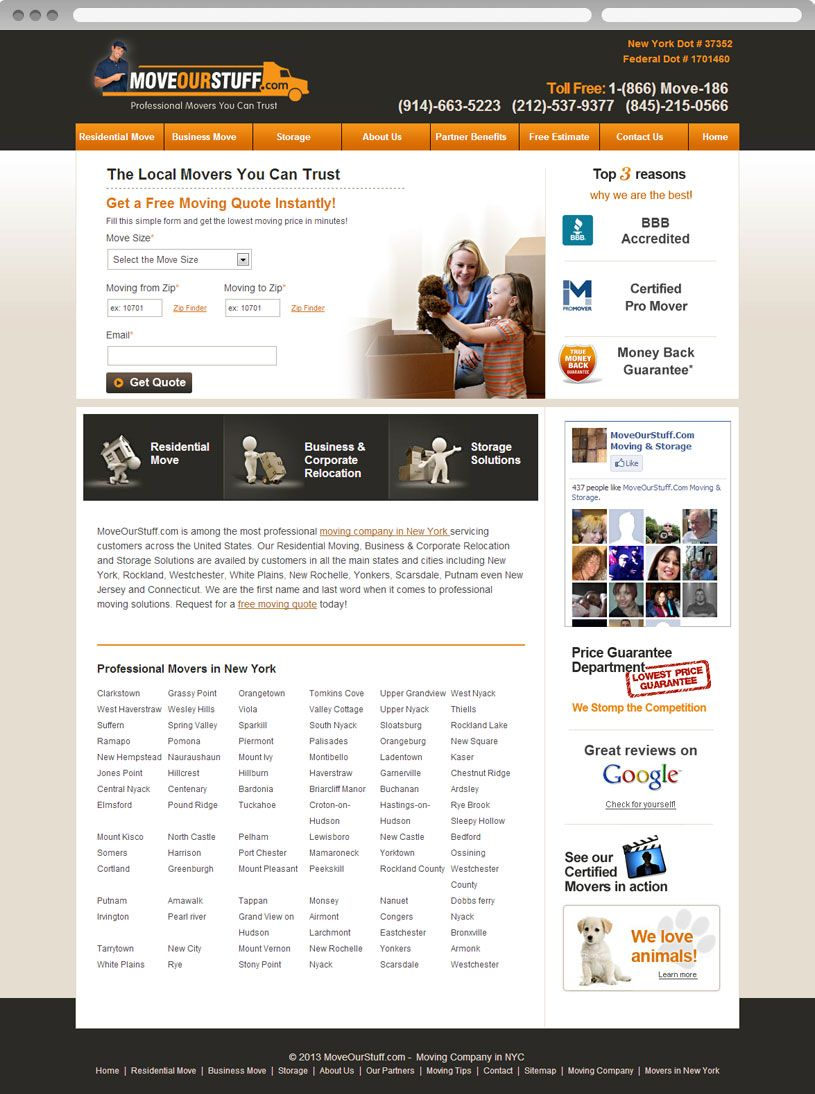 Website design for Move Our Stuff. View online at http://www.niyati.sg/web-design/164/moving-company-website
