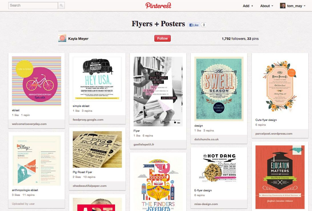50 brilliant Pinterest boards | Board, Typography and Logos for Creative Poster Designs Inspiration  110ylc