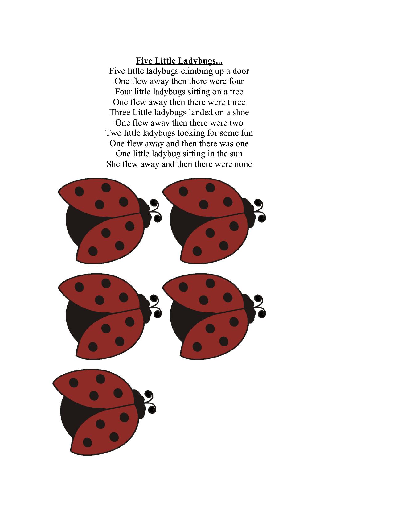 5 Little Ladybugs Nuttin But Preschool