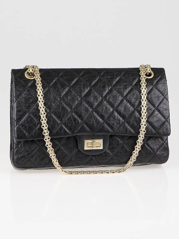5b9f38f9b9056a Chanel Limited 50th Anniversary Edition Black 2.55 Reissue Quilted Classic  225 Flap Bag