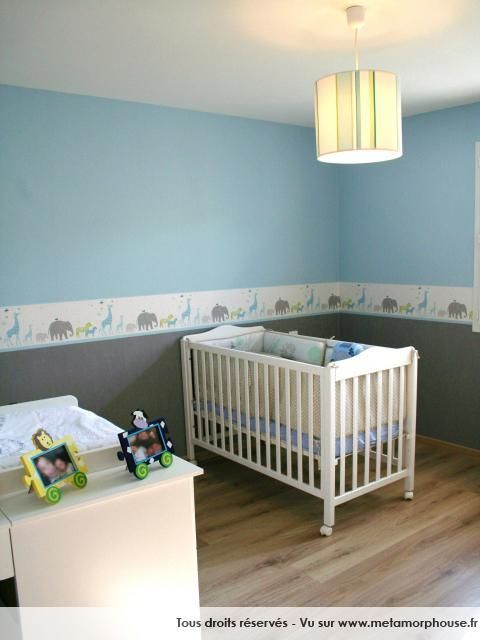 Awesome Chambre Bebe Garcon Gris Bleu Pictures - lalawgroup.us ...