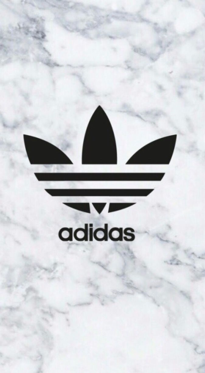 adidas logo on marble background phone wallpaper
