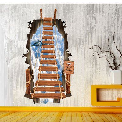 3D Seascape Design Removable PVC Wall Stickers Stickers online