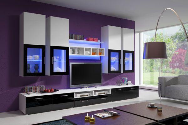 Mueble de saln de diseo minimalista modelo Teresa Puedes