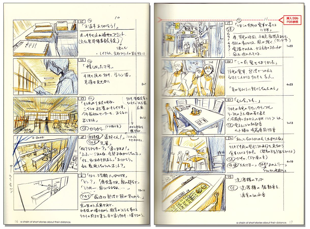 Makoto Shinkai - 5 Centimeters Per Second And Others Story Board ...