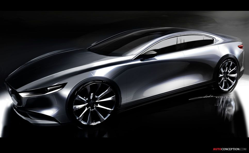 2019 Mazda 3 (saloon) All electric cars, Mazda, Concept