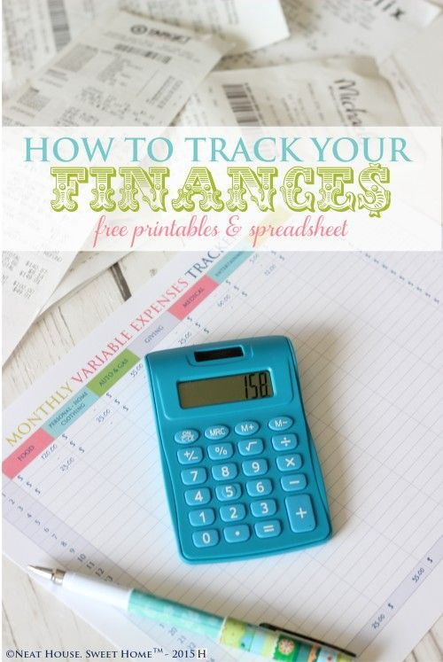 How To Track Your Finances - Free Printable Free printable, Money
