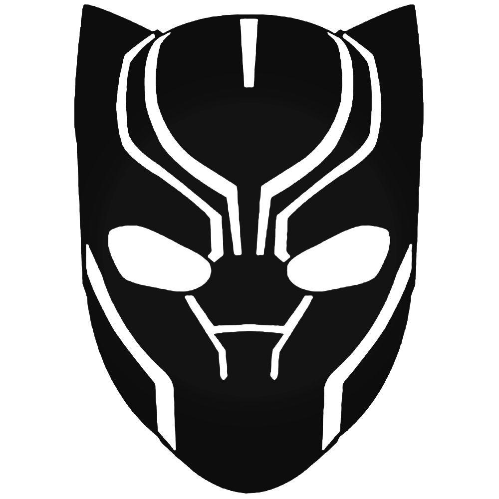 Avengers black panther head decal sticker movie clipart ideas para fiestas sticker vinyl