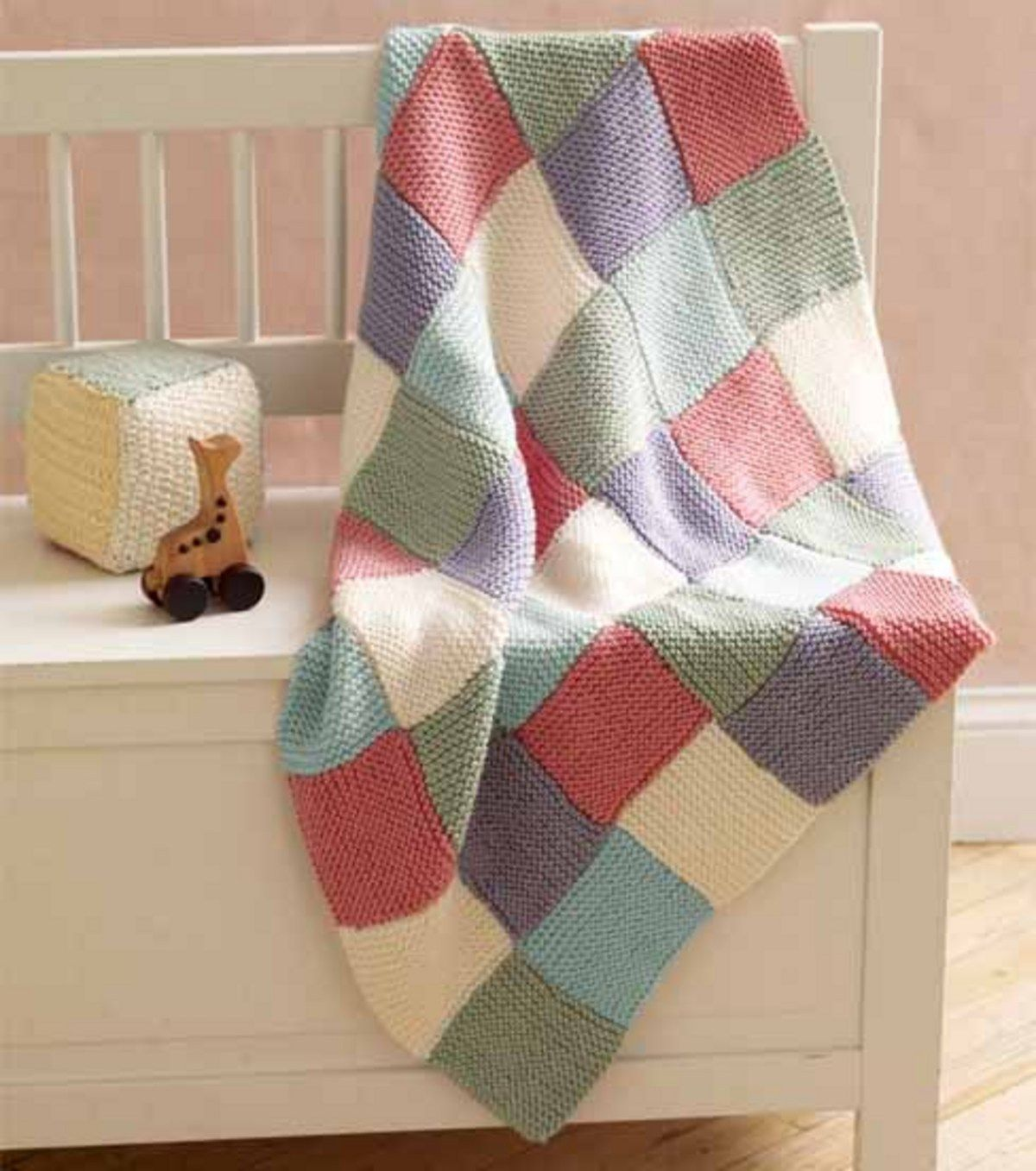Learn How to Make a Patchwork baby throw with Martha Stewart Knit ...