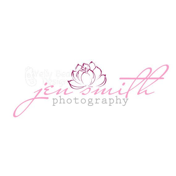 Premade Logo Watermark Lotus Flower Good For Photography Small