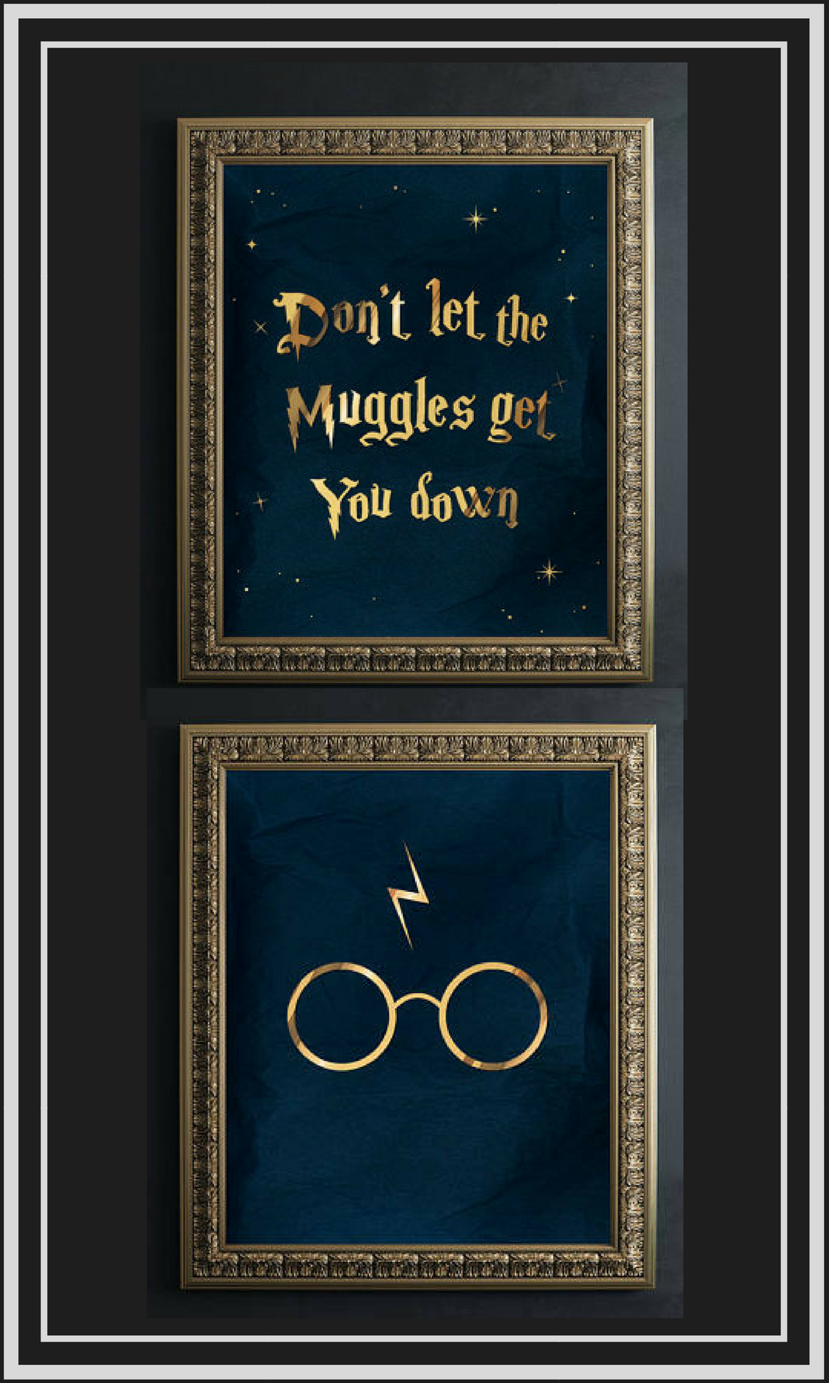 Harry potter wall art donut let the muggles get you down harry