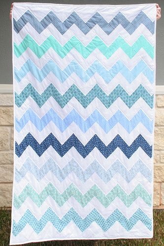 chevron quilt w'out dealing with triangles!