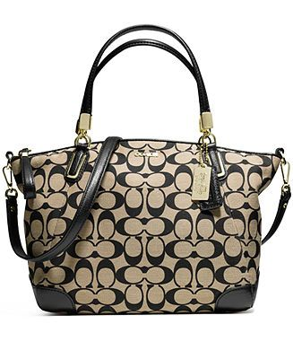 COACH MADISON SMALL KELSEY SATCHEL IN PRINTED SIGNATURE FABRIC - Coach  Handbags - Handbags   Accessories - Macy s ff5a0a47d780f