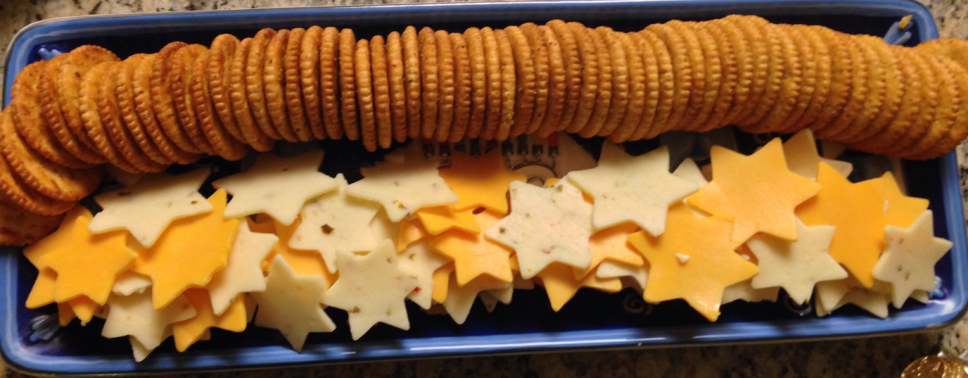 Star Of David Cheese And Crackers Hanukkah Food Cheese