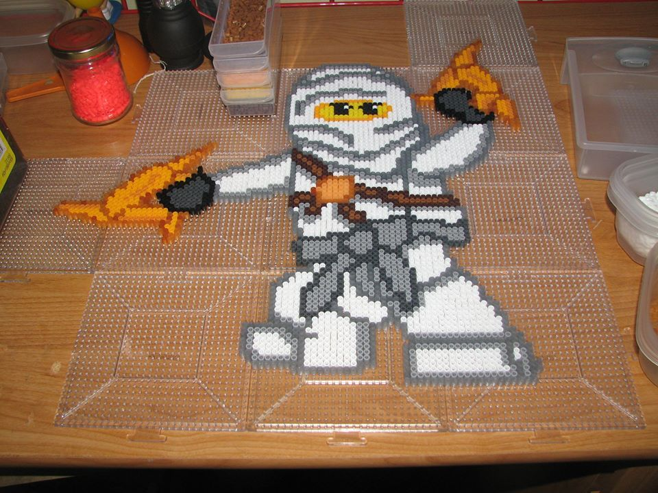 Zane Lego Ninjago Perler Beads By Ndbigdi On Deviantart Perler