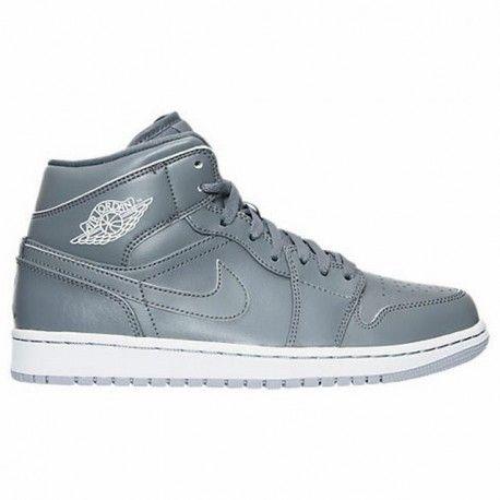 Men's Air Jordan Retro 1 Mid Retro Basketball Shoes Cool Grey/White/Wolf  Grey 554724 031 | Retro basketball shoes, Air jordan and Retro