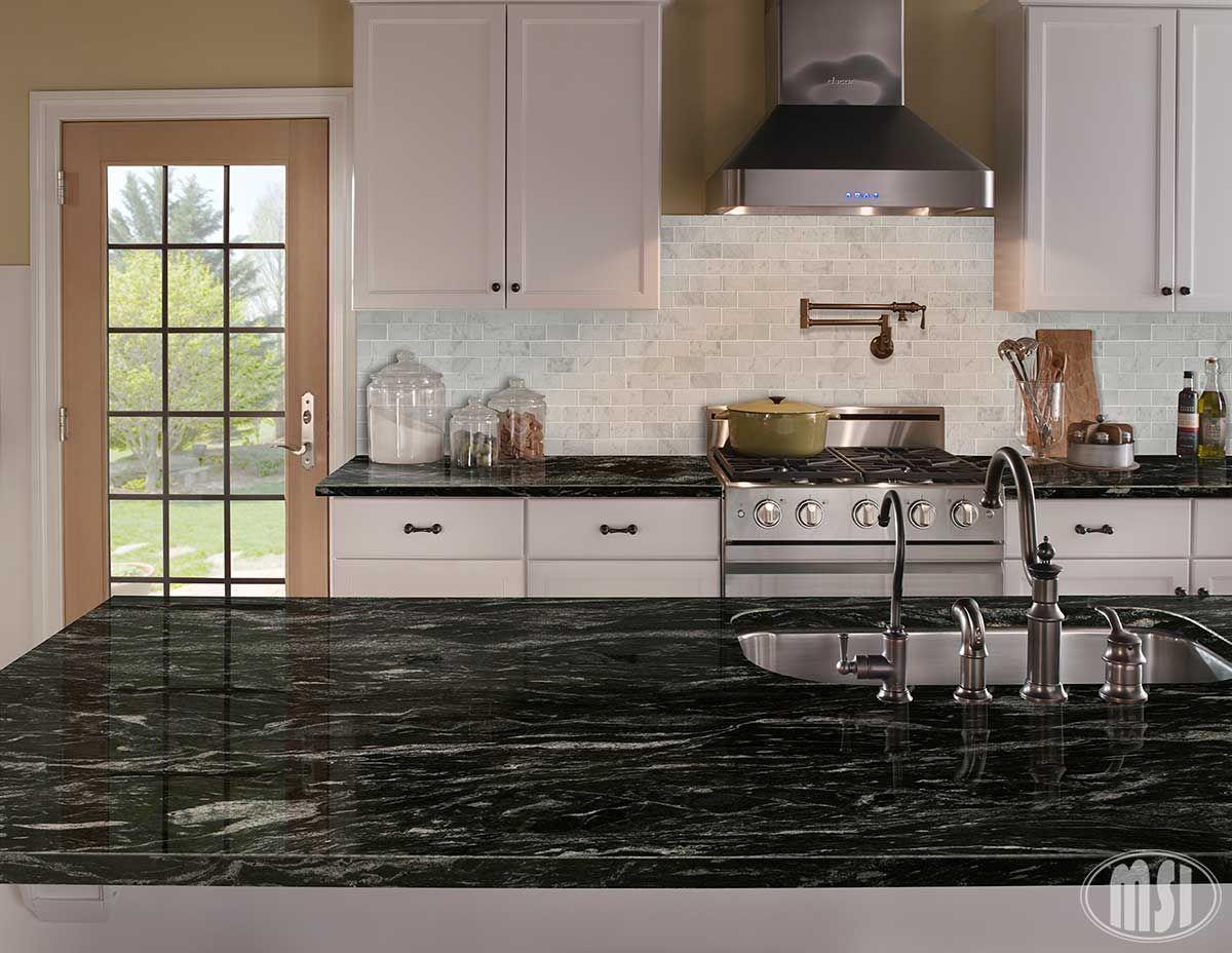 Silver Waves Granite Kitchen Titanium Granite Granite