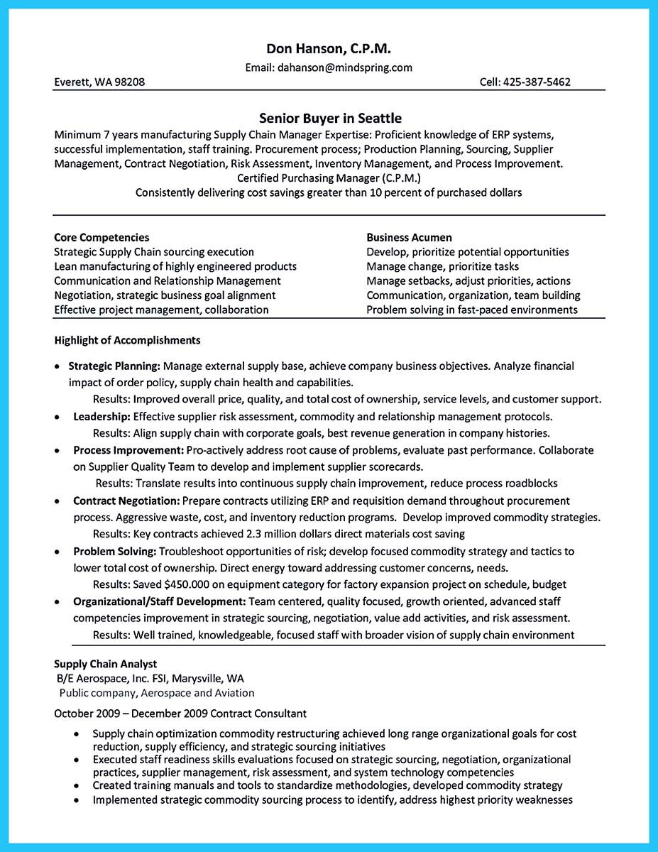 Supply Chain Manager Resume If You Like Fashion As One Of The Things That You Love In Your