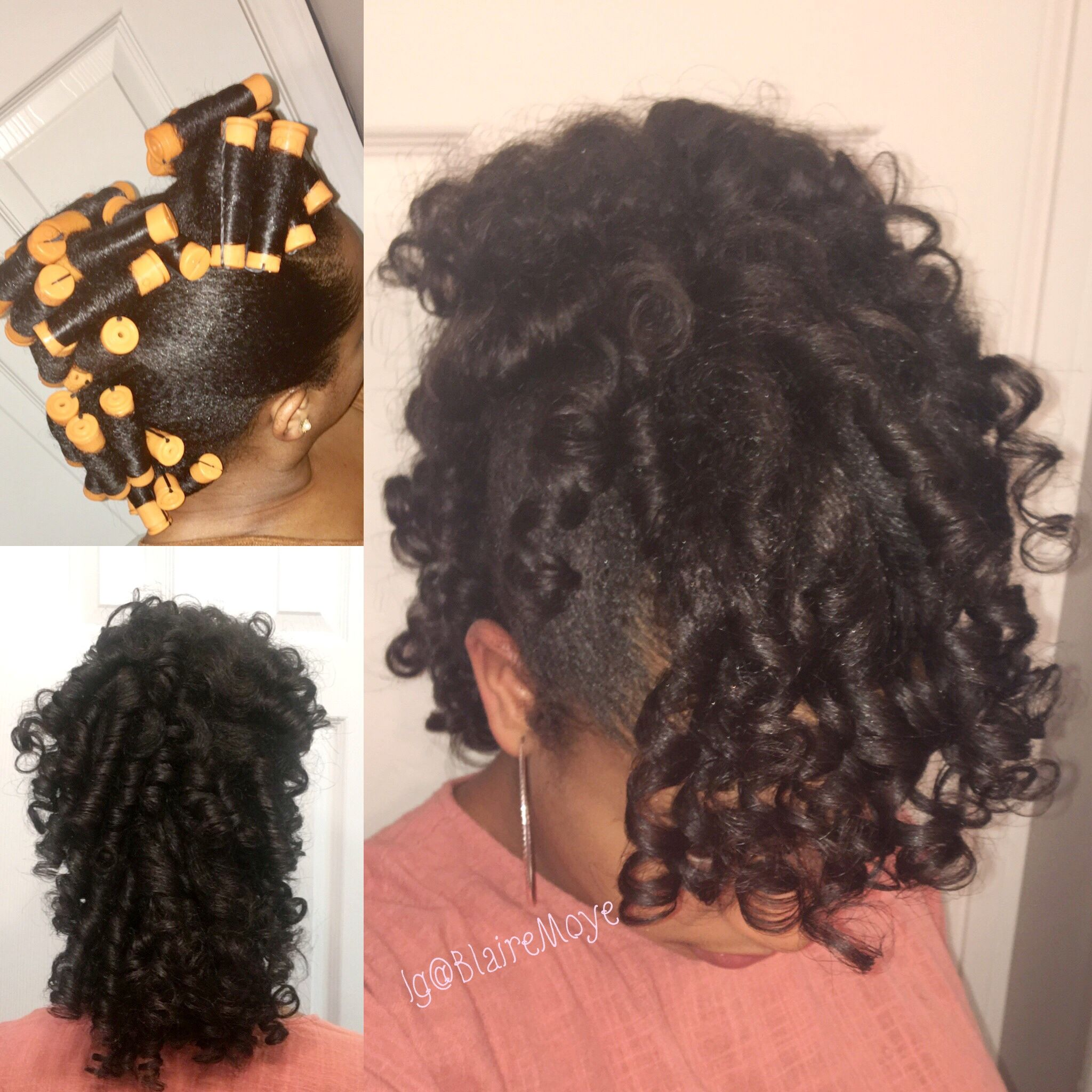 Natural Hair Style Frohawk Using Perm Rods And The Mane Choice