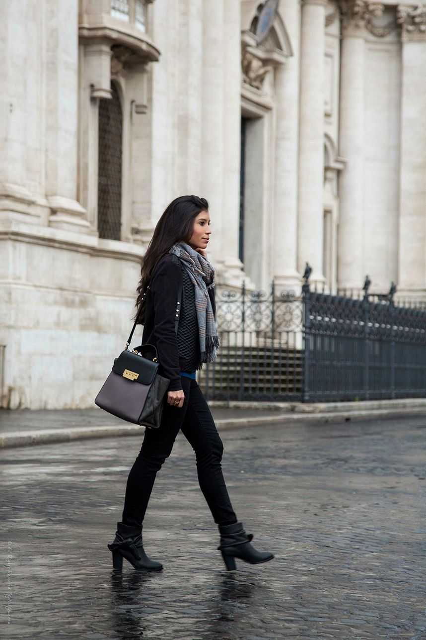 Italy In November Stylish Rainy Day Outfit Ankle Boot