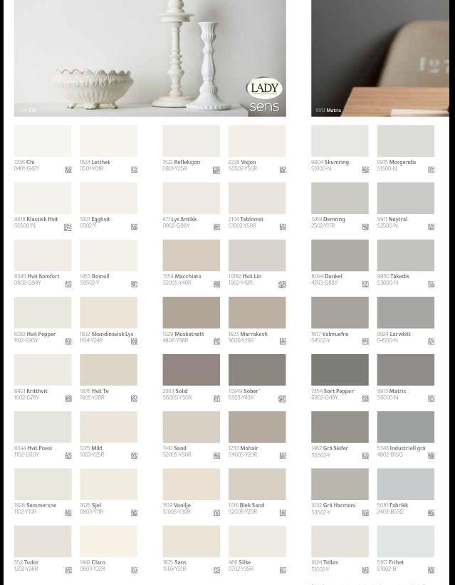 lady fargekart grå