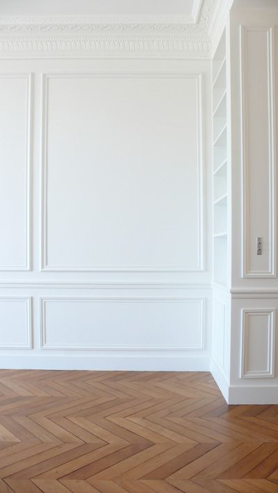 Living Room Off White Paneling Walls With Molding
