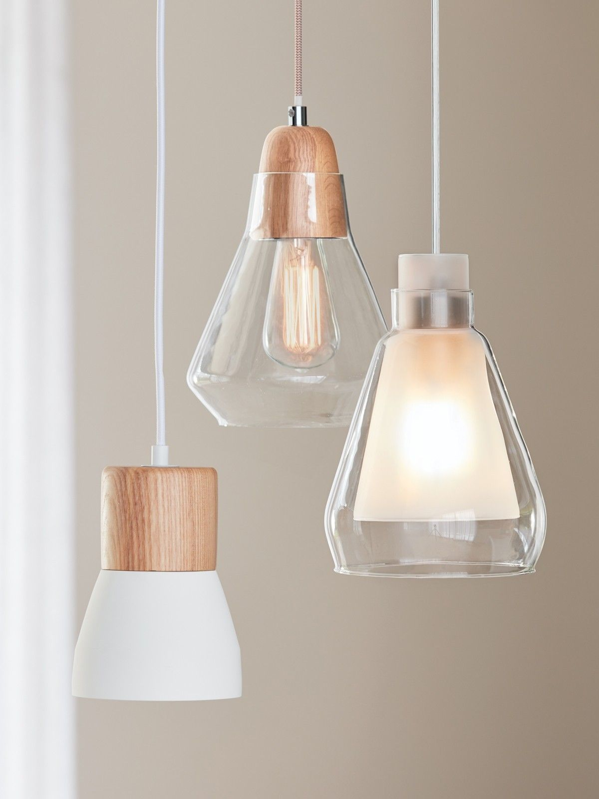Monte 1 Light Pendant In Chalk Oak Beacon Lighting