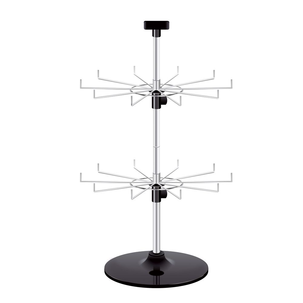 2 tier chrome countertop peg spinner countertops chrome