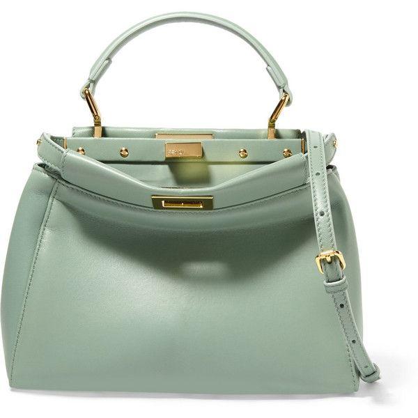 76c5be2c1ee5 Fendi Peekaboo small leather shoulder bag ( 3