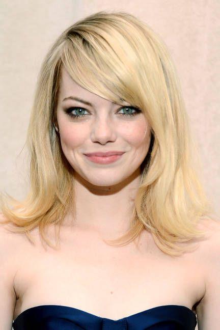 Emma Stone Blonde Hair Best Blonde Hairstyles Elle Medium Hair Styles Medium Length Hair Styles Emma Stone Blonde