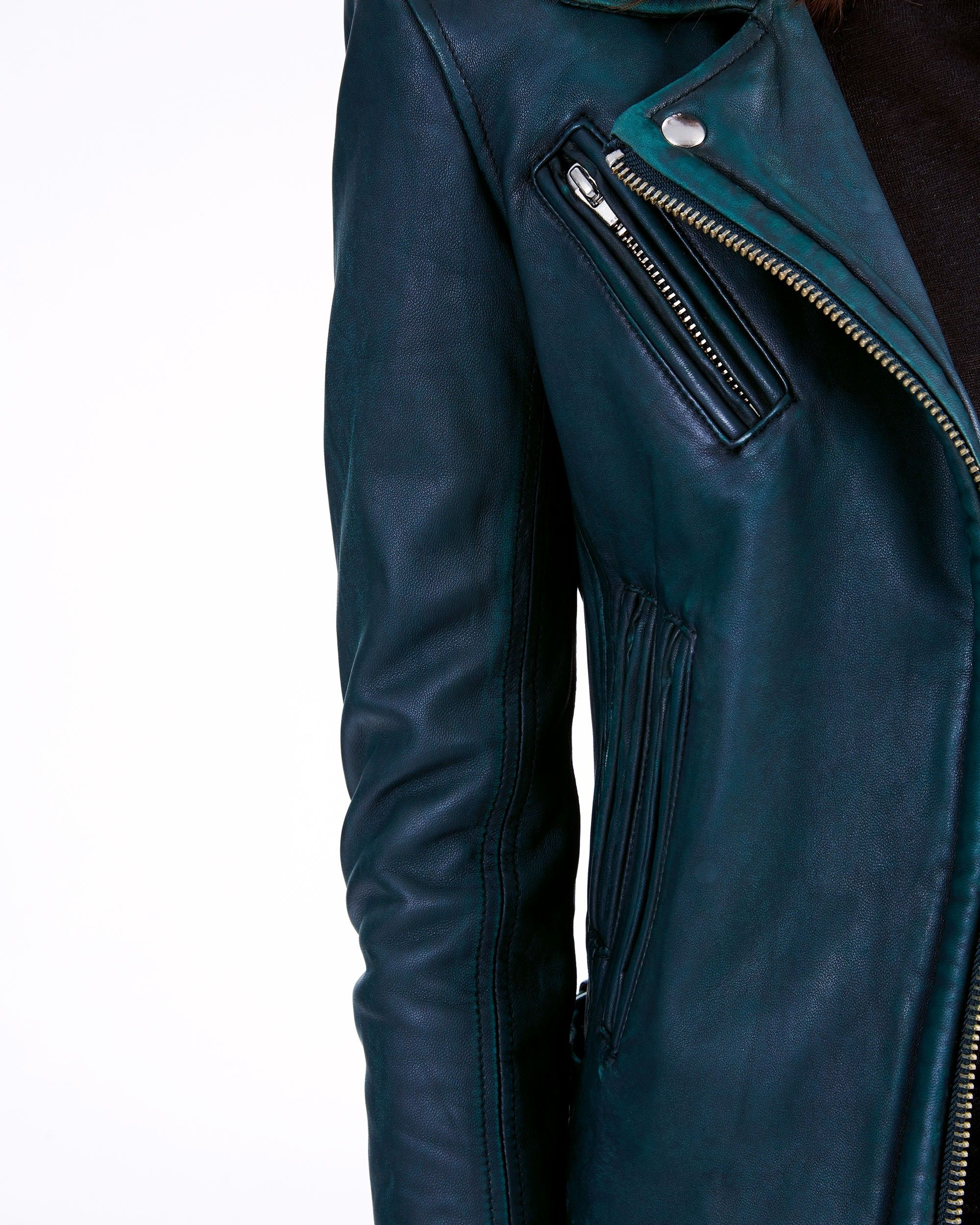 Iro Han Leather Jacket Dark Green 34 Leather Jacket Jackets Fashion [ 2500 x 2000 Pixel ]