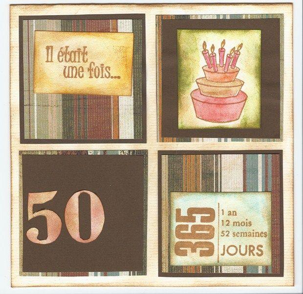 carte d anniversaire pour les 50 ans de mon cousin