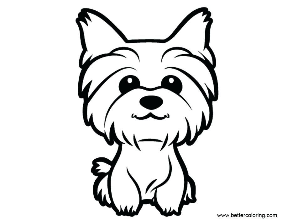 Yorkie Line Drawing At Paintingvalley Com Explore Collection Of Yorkie Line Drawing Puppy Coloring Pages Dog Drawing Dog Line Drawing