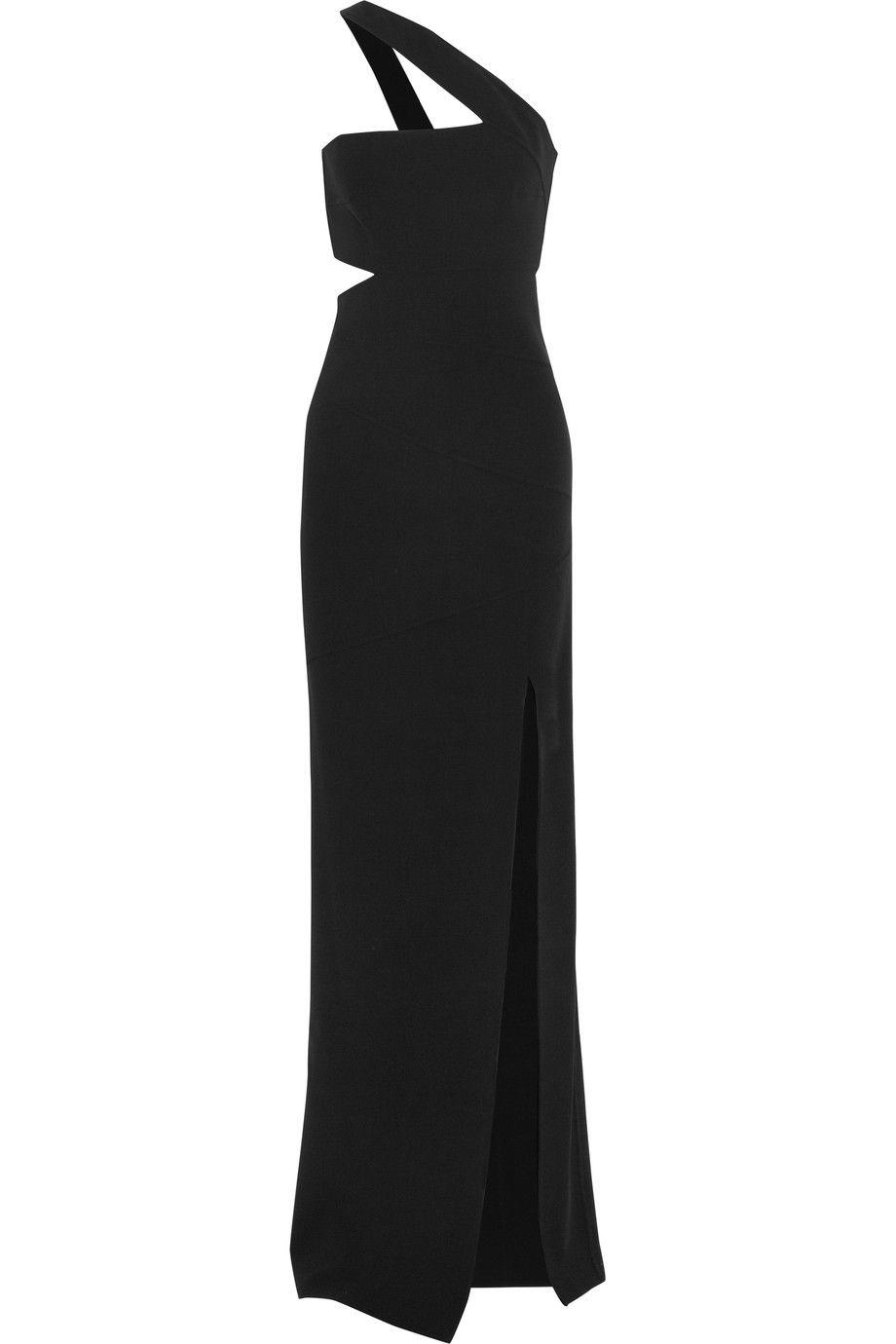 MICHAEL KORS One-Shoulder Stretch-Wool Gown. #michaelkors #cloth ...