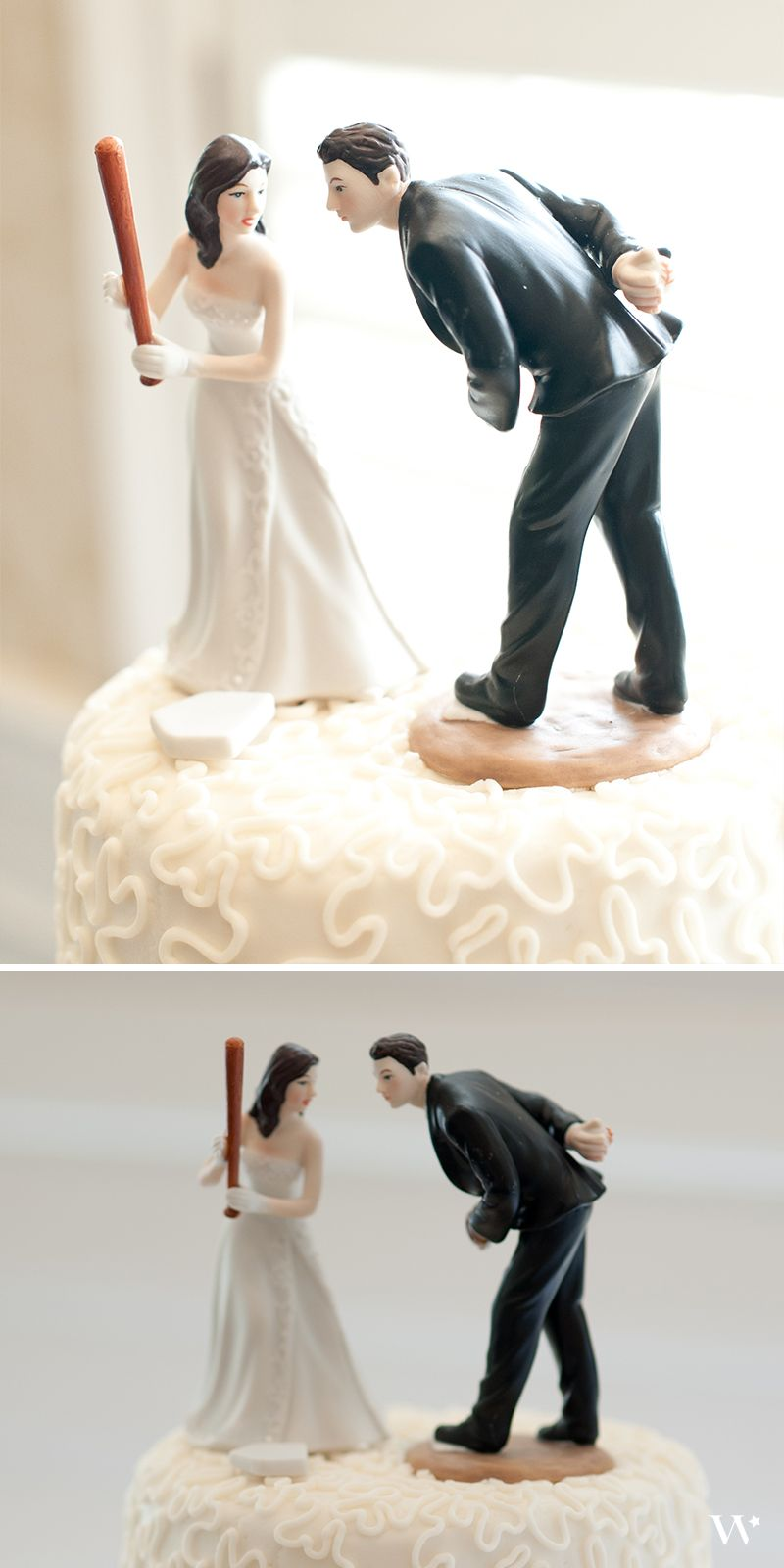 we love seeing our baseball themed wedding cake topper in action thanks