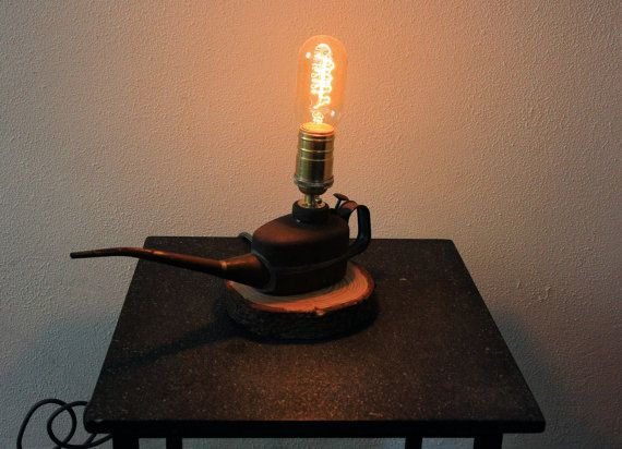 oilcan small light jaren 1950 1960 edison buislamp gloeilamp
