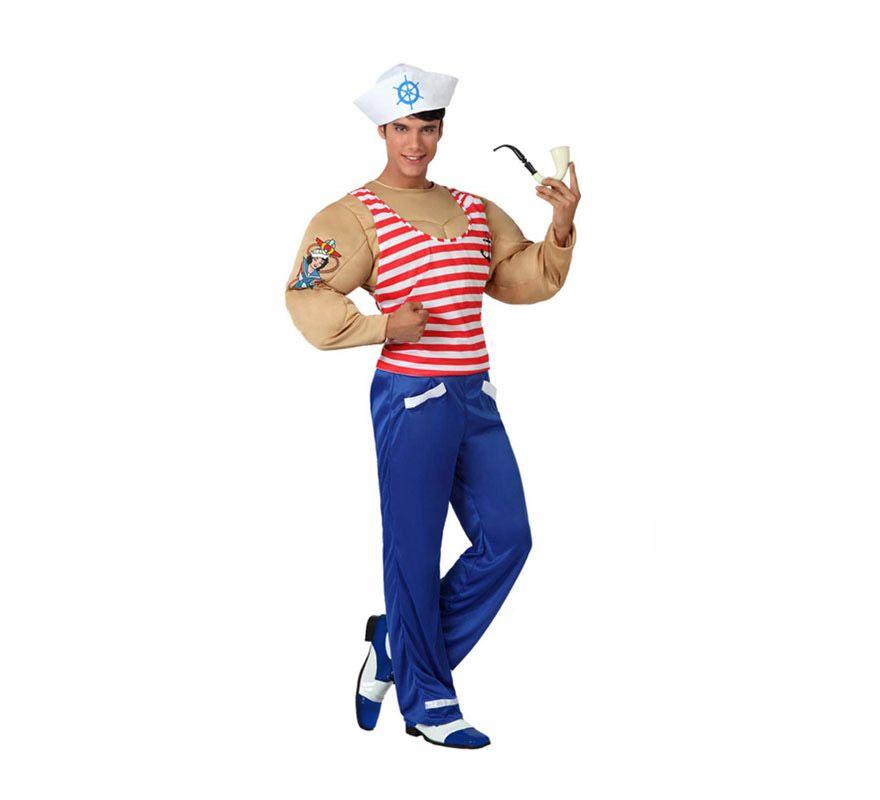 82f374227 Disfraz de Marinero Musculoso para hombre. Talla 2 o talla M-L = 52 ...
