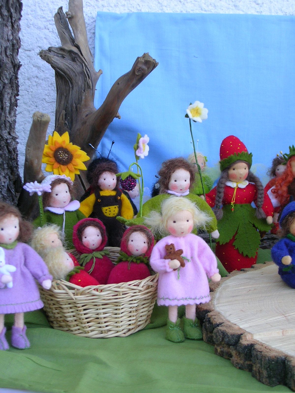 Blumen Walldorf Sommer Seasonal And Fantasy Dolls Handgemachte Puppen Filz Fee