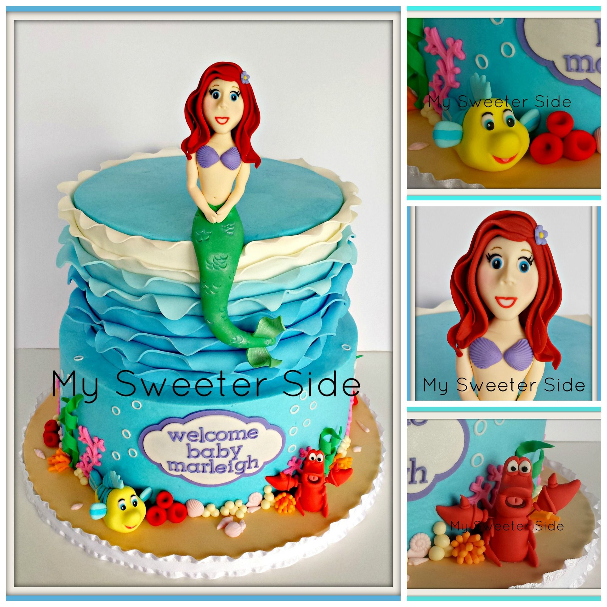 little mermaid baby shower cake my cakes my sweeter side pinter