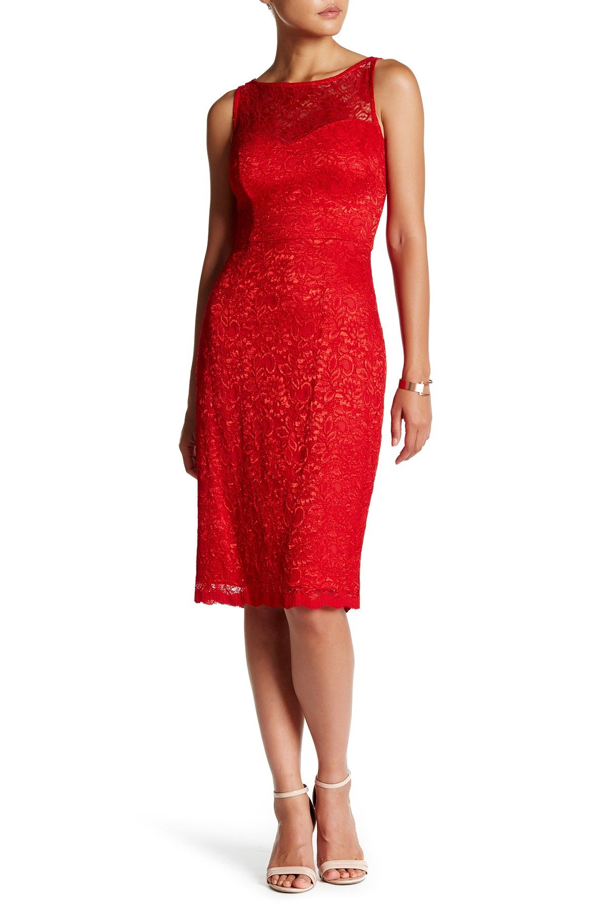 Lace Sheath Dress By Betsey Johnson On Nordstrom Rack Aff