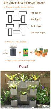 DIY Garden : Cinder Block Garden Planter   - Home Sweet Home - #Block #Cinder #DIY #garden #home #Planter #Sweet #betonblockgarten