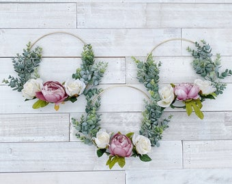 Artificial Wedding Flowers Pastel Pink Peony /& Ivory Rose Flower Girl Basket