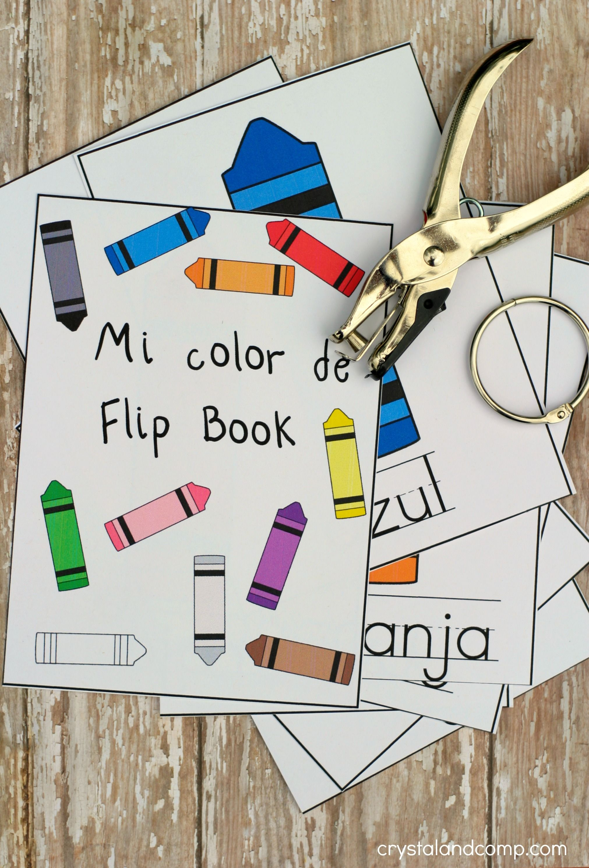 Teach Colors To Kids In Spanish Flip Book