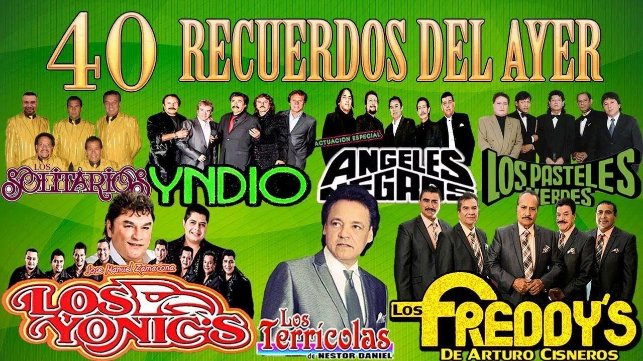 Freddys Terricolas Yndio Yonics Angeles Negros Pasteles Verdes Soli Canciones Románticas Pastelitos Verdes Musica Para Recordar