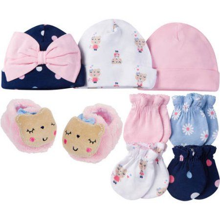 Gerber Newborn Baby Girl Caps fa707aefba6