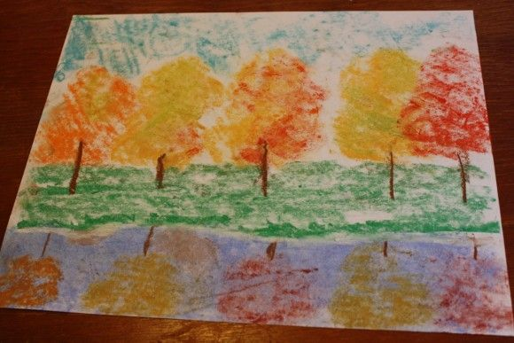 Tree Reflection A Pastels Tutorial Hodgepodge Easy Art Projects Autumn Art Reflection Art